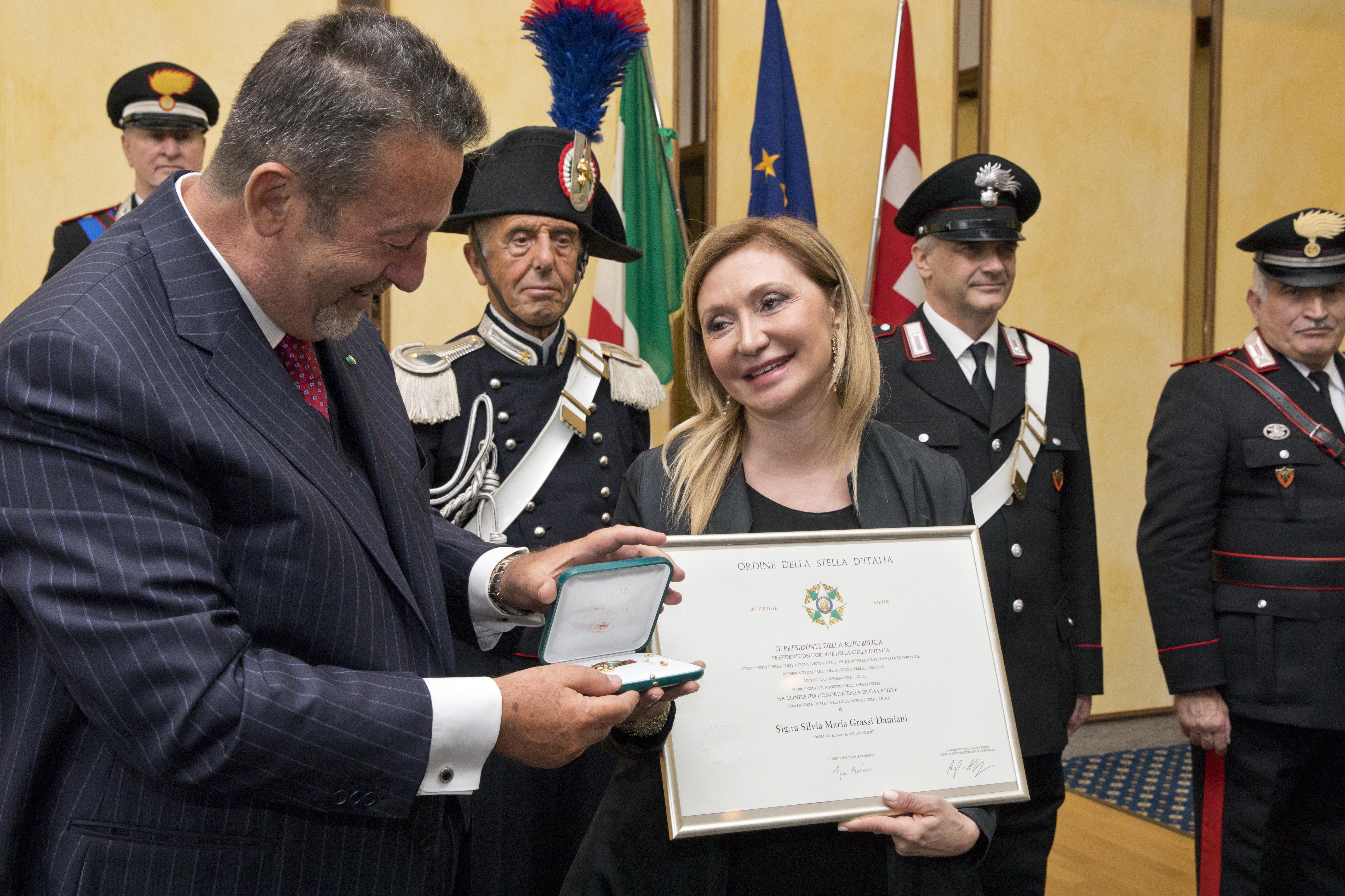 "Silvia Damiani was handed the ""Stella d'Italia"" title, on Monday."