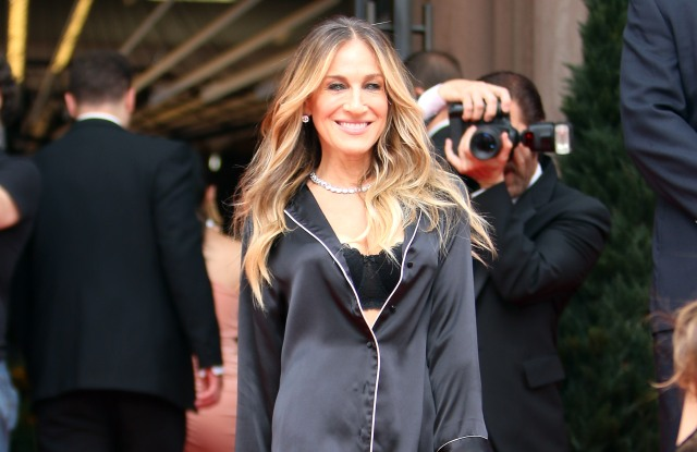 Sarah Jessica Parker filming a Intimissimi Commercial in New York.