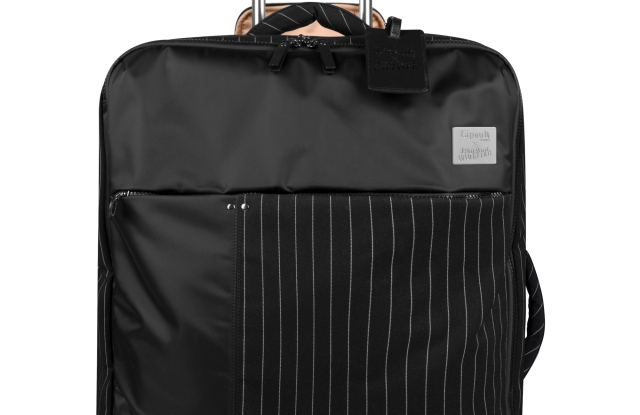 A suitcase from the Jean Paul Gaultier capsule for Lipault.