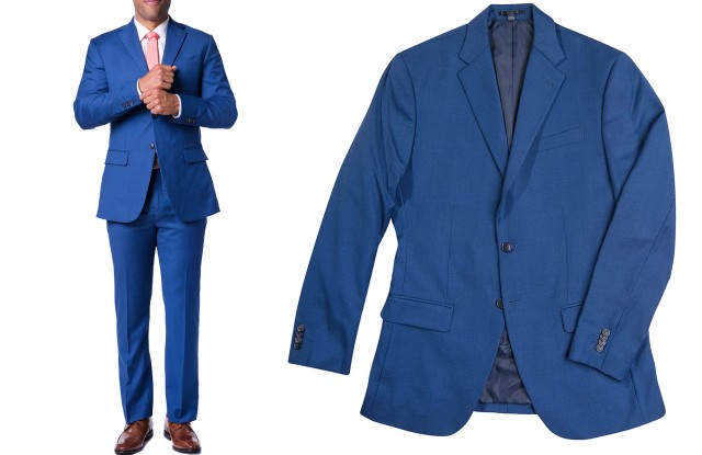 A custom suiting option from MTailor, using its body scan technology.
