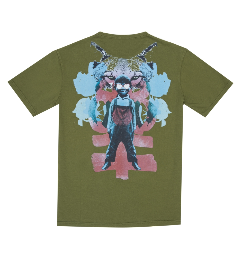 A T-shirt from the Gorillaz/GEYM line.