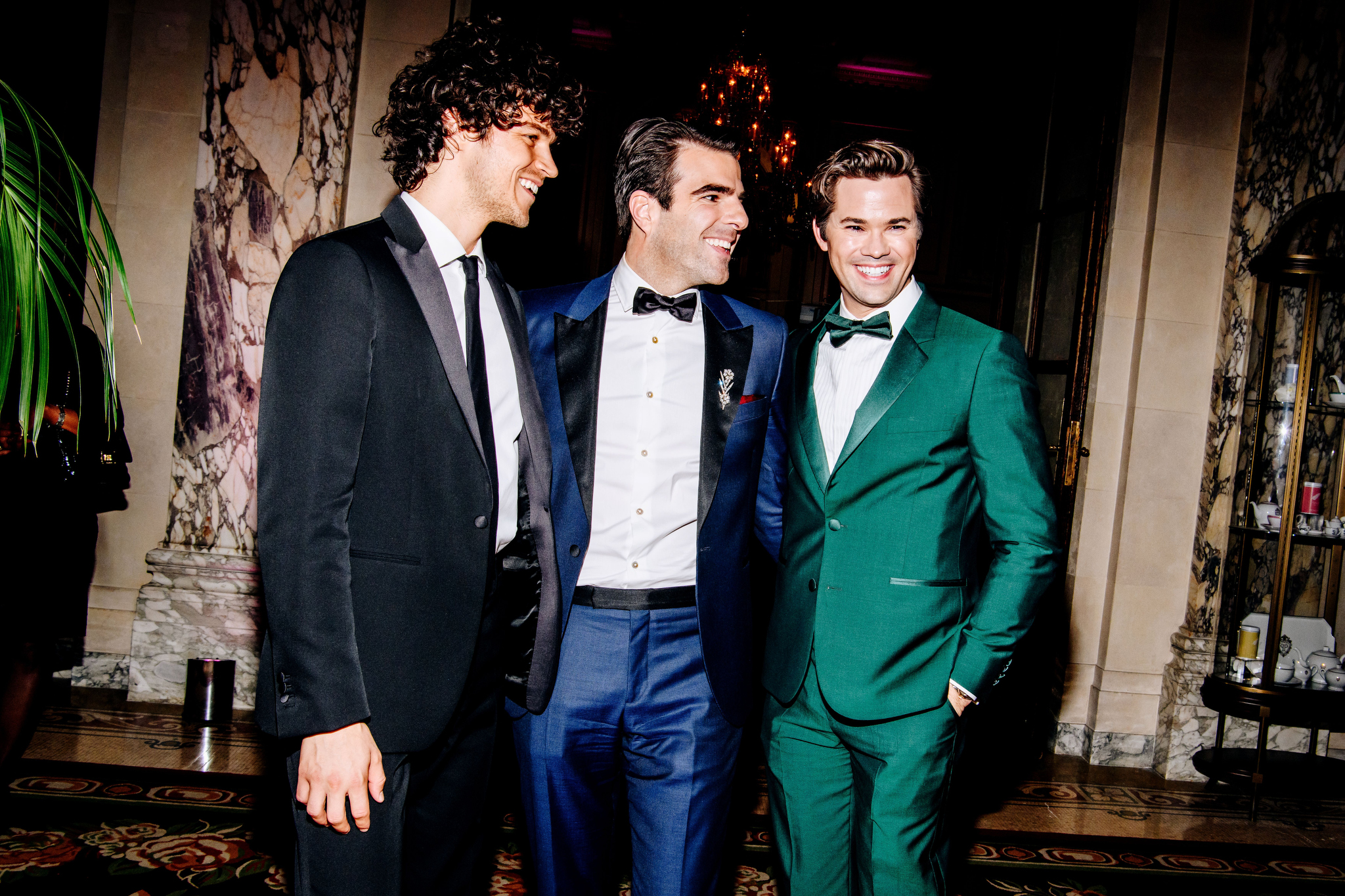 Miles McMillan, Zachary Quinto and Andrew RannellsTony Awards, After Party, The Plaza Hotel, New York, USA - 10 Jun 2018