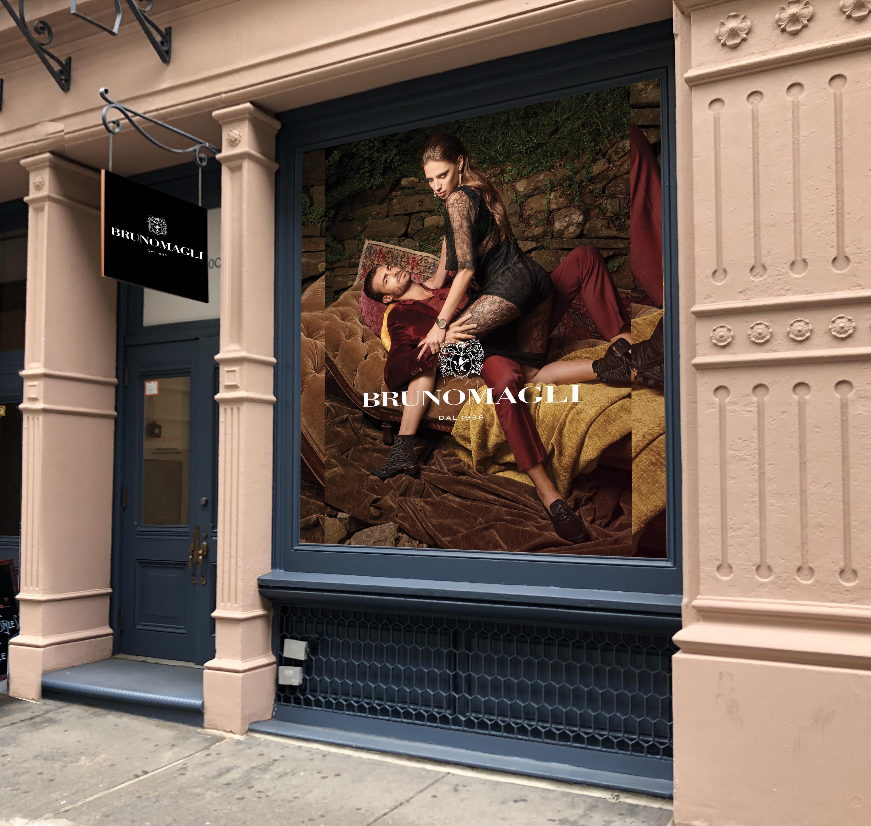 Bruno Magli's new storefront in New York's Soho