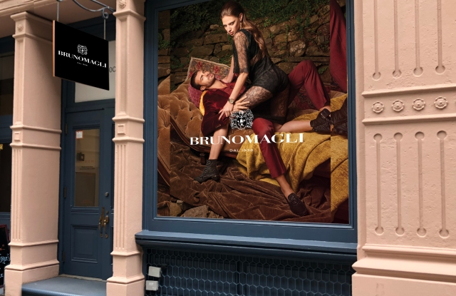 Bruno Magli's new storefront in New York's Soho