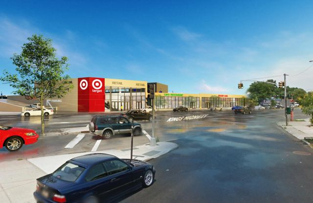A rendering of Target's Brooklyn store, which is set to open in 2020.
