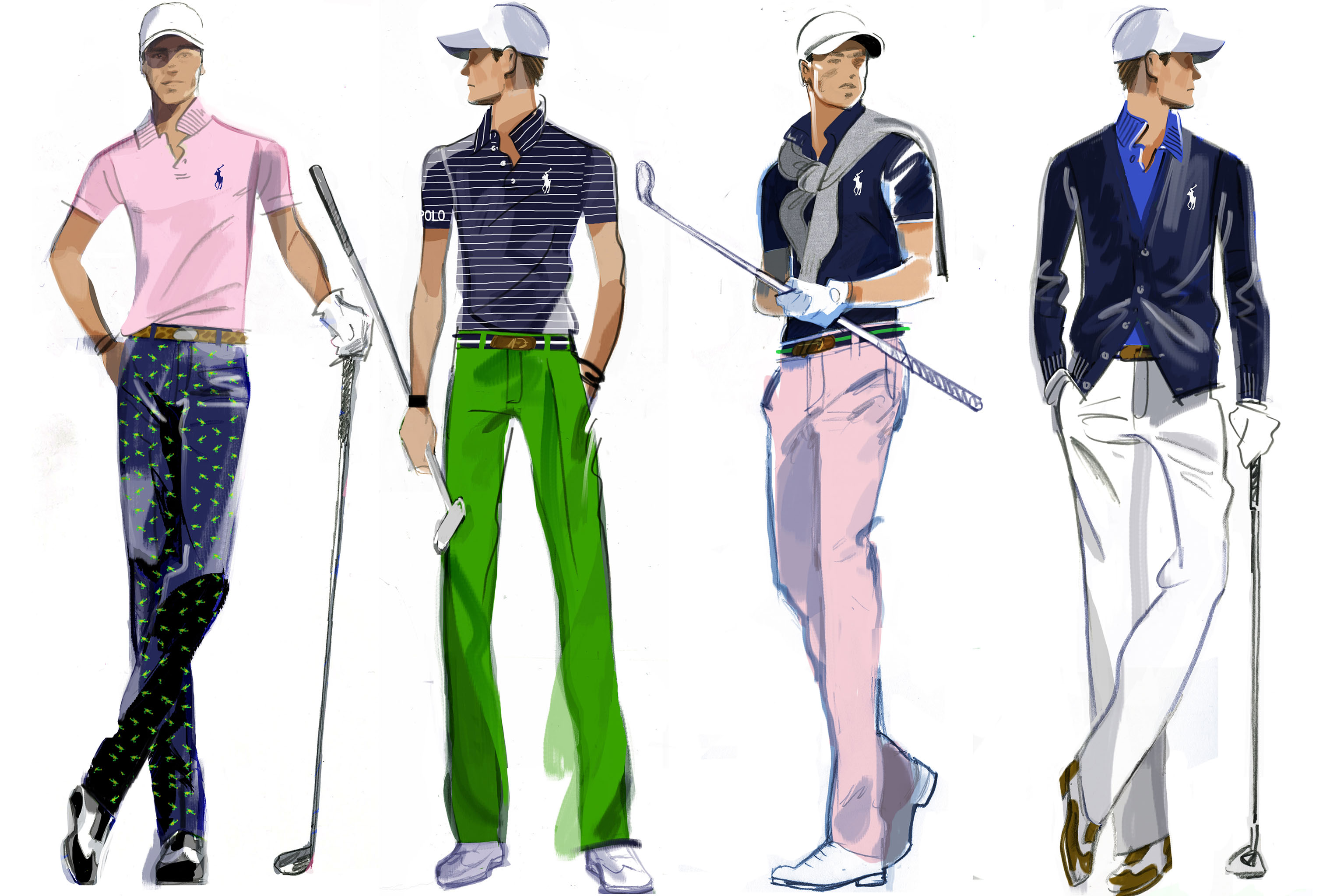 Looks from Ralph Lauren for the U.S. Open.