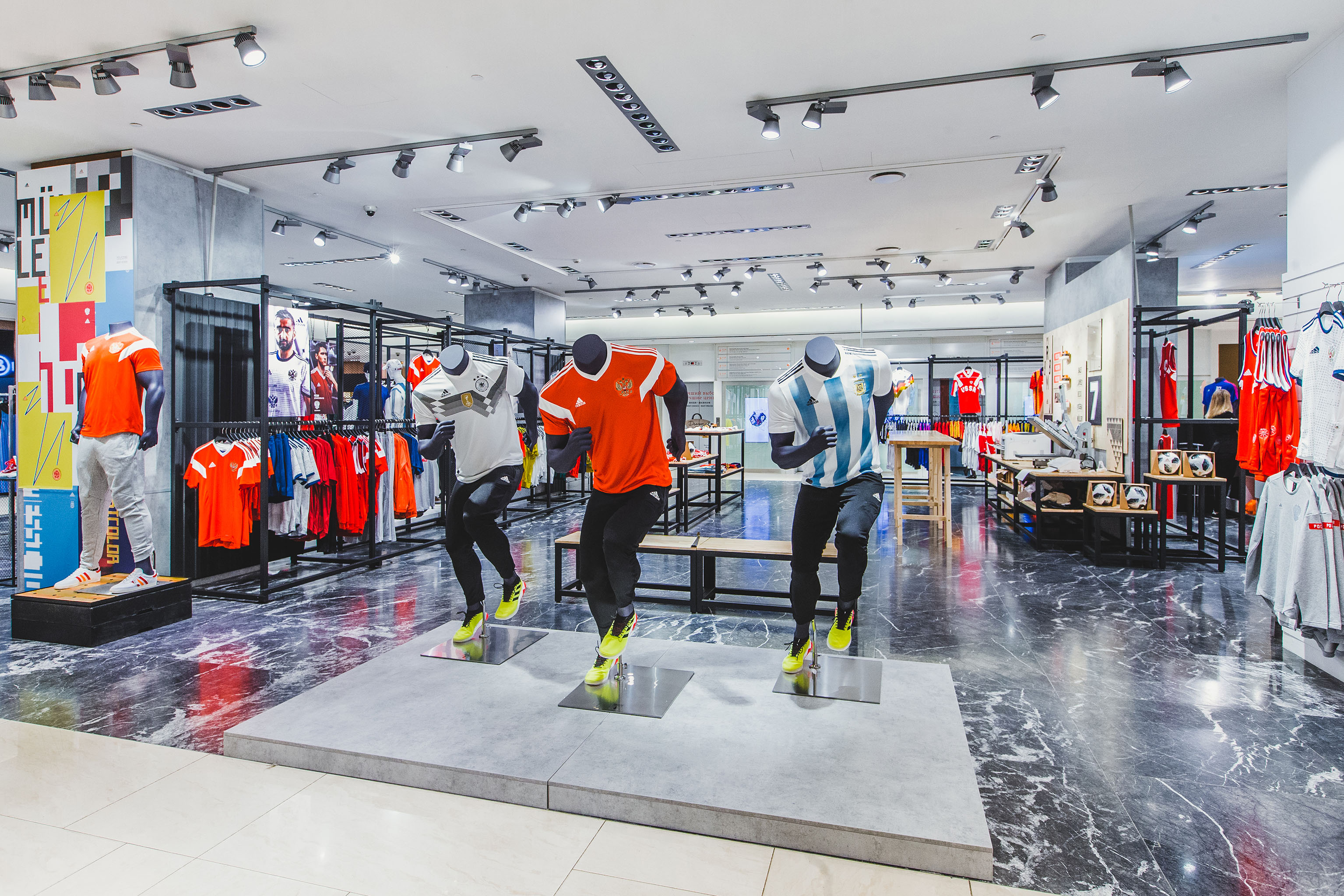 The special Adidas shop at Tsum in Moscow for the World Cup