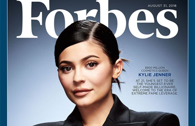 Kylie Jenner featured on the Forbes cover.