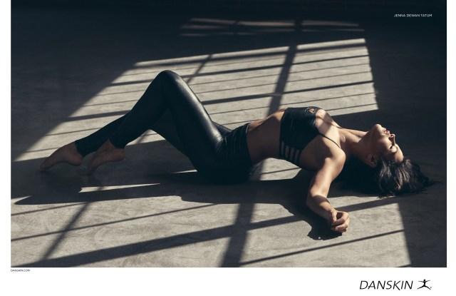 danskin woman laying down