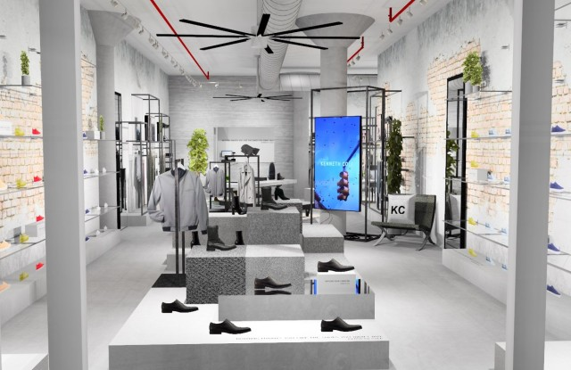 A rendering of Kenneth Cole's new Queen Street West store in Toronto.