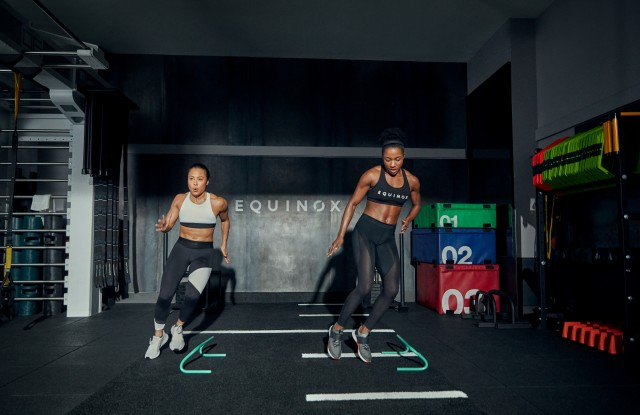 An Equinox trainer and client.