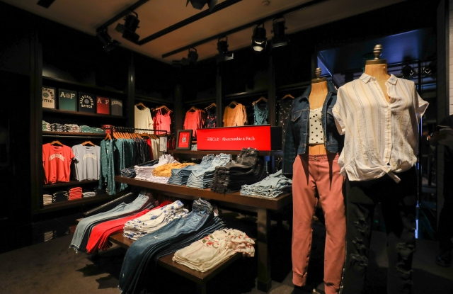 A display inside Abercrombie's Shanghai store.