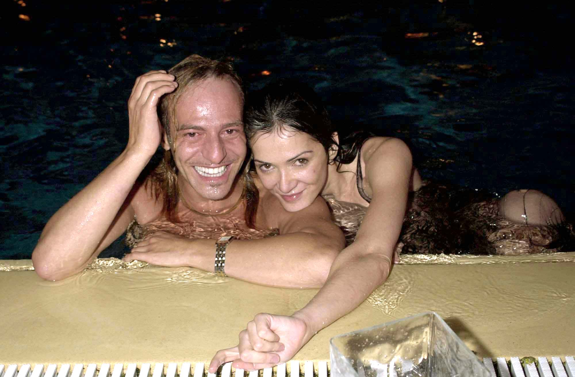 Annabelle Neilson and John Galliano at the Vogue / Laureus Party at Monte Carlo Sports Club, Monaco, 2000