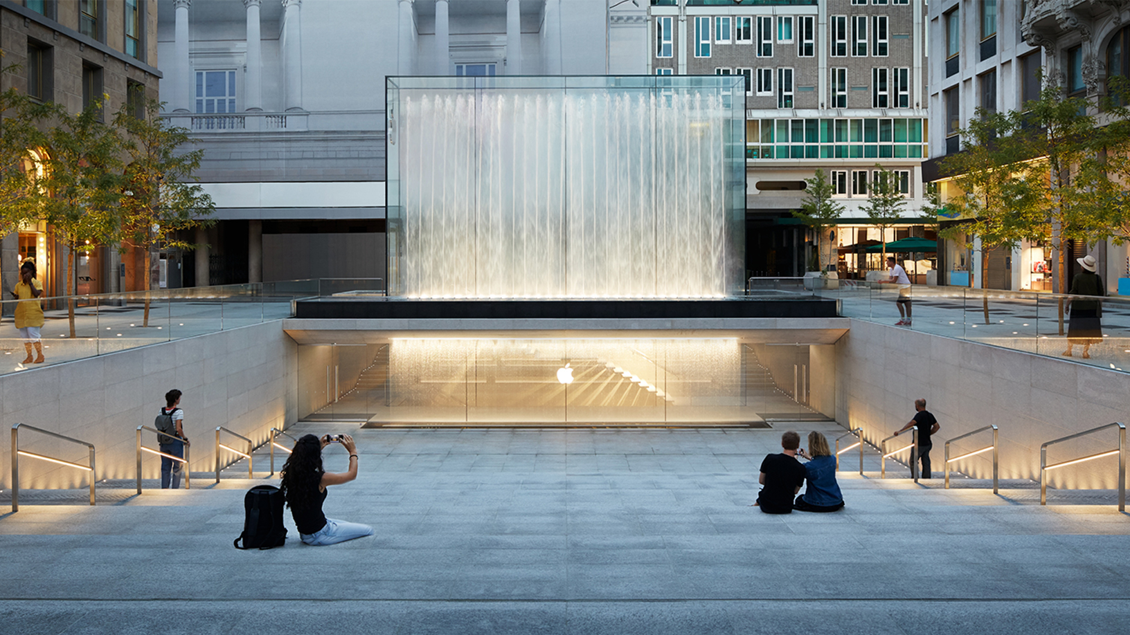 Apple Store on Milan's Piazza Liberty.