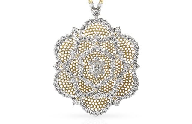 Camelia pendant brooch by Buccellati