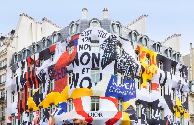 The facade of the Dior flagship on Avenue Montaigne in Paris.