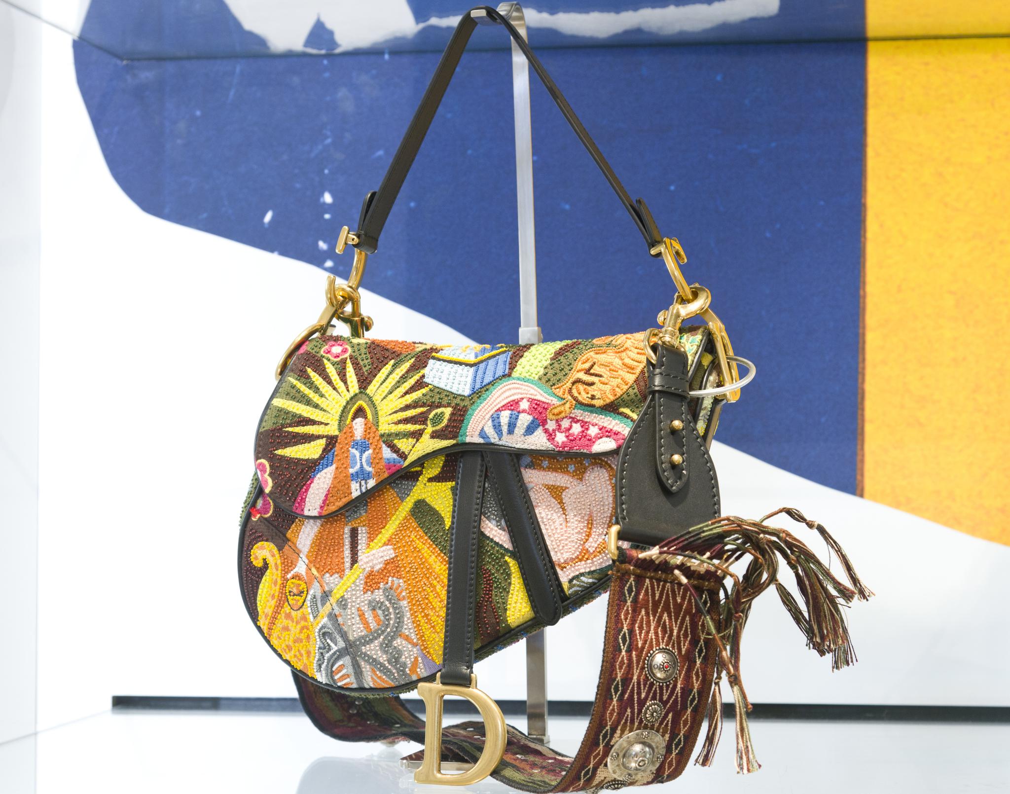 A Dior Saddle bag designed by Maria Grazia Chiuri.