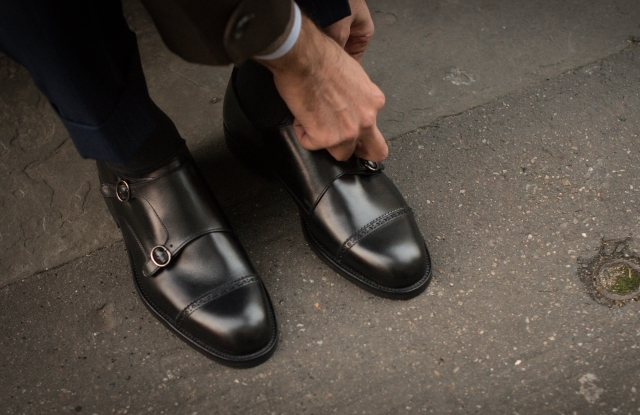 A pair of double monk straps from Velasca.