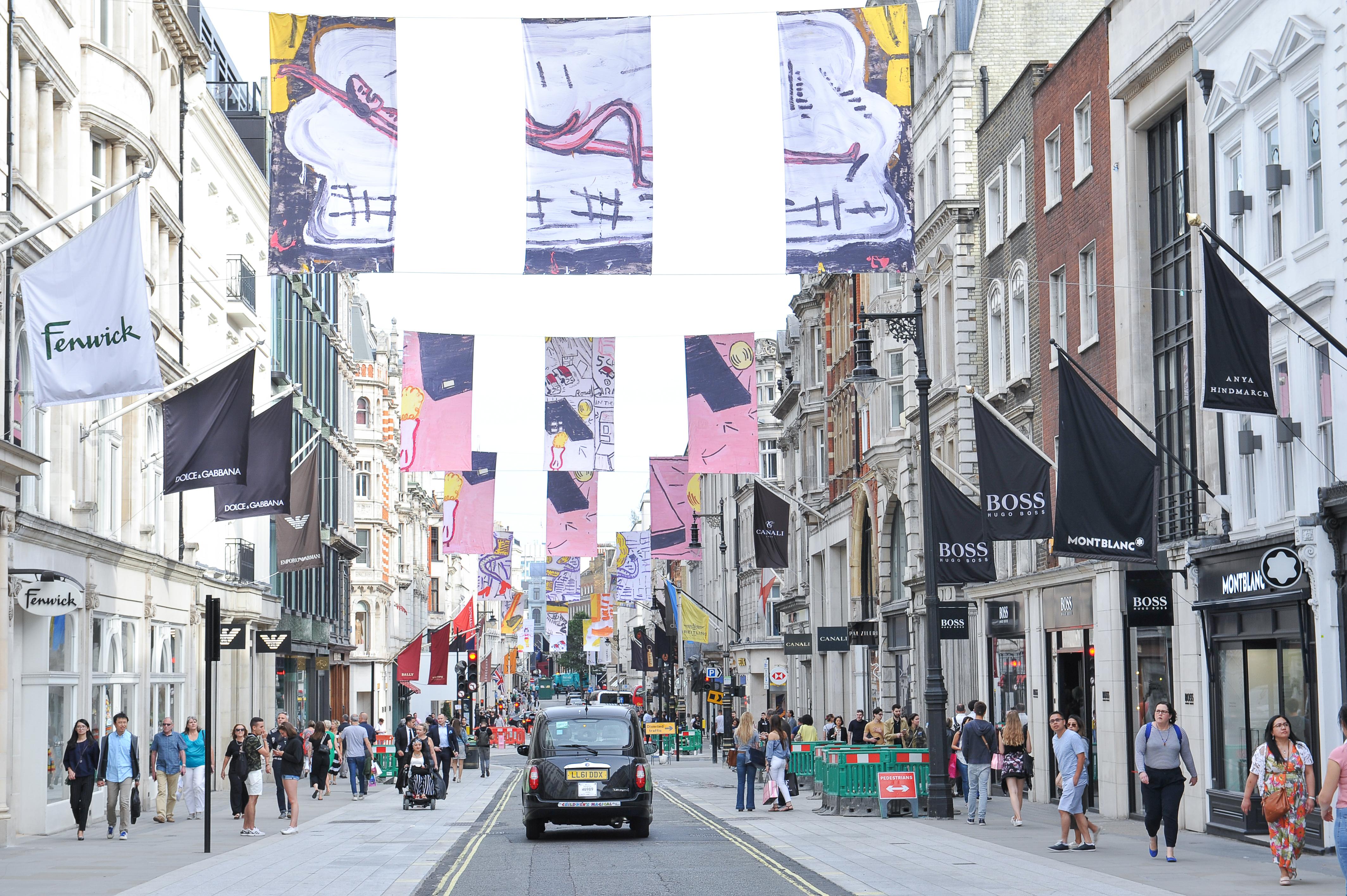 Retailers on New Bond Street