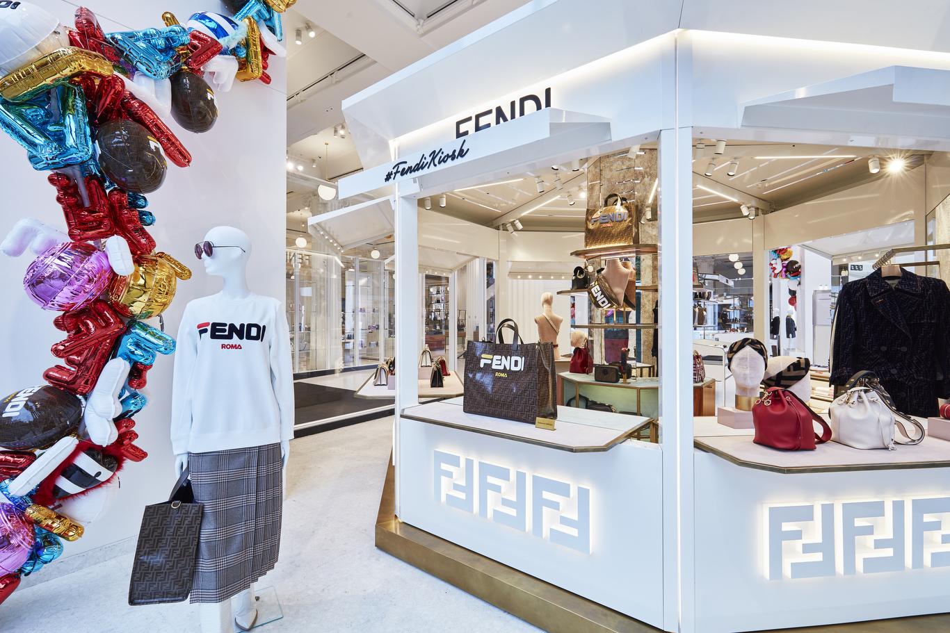 The Fendi Kiosk at Selfridges Corner Shop in London