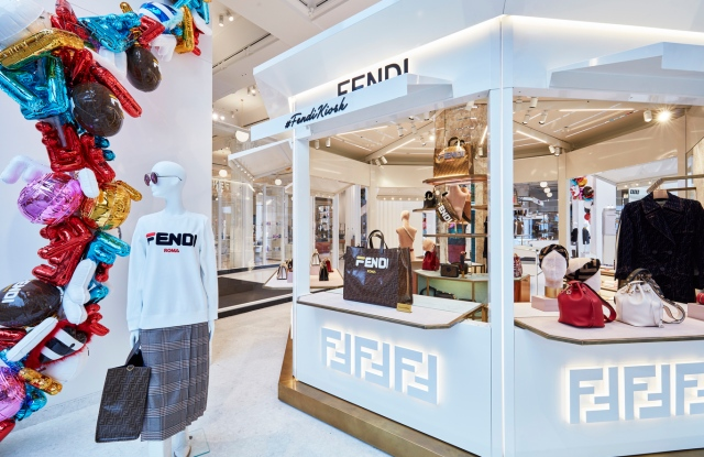 The Fendi Kiosk at Selfridges Corner Shop in London