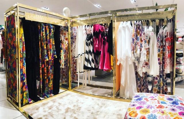 The Loretta Caponi pop-up shop at Milan's department store Rinascente.