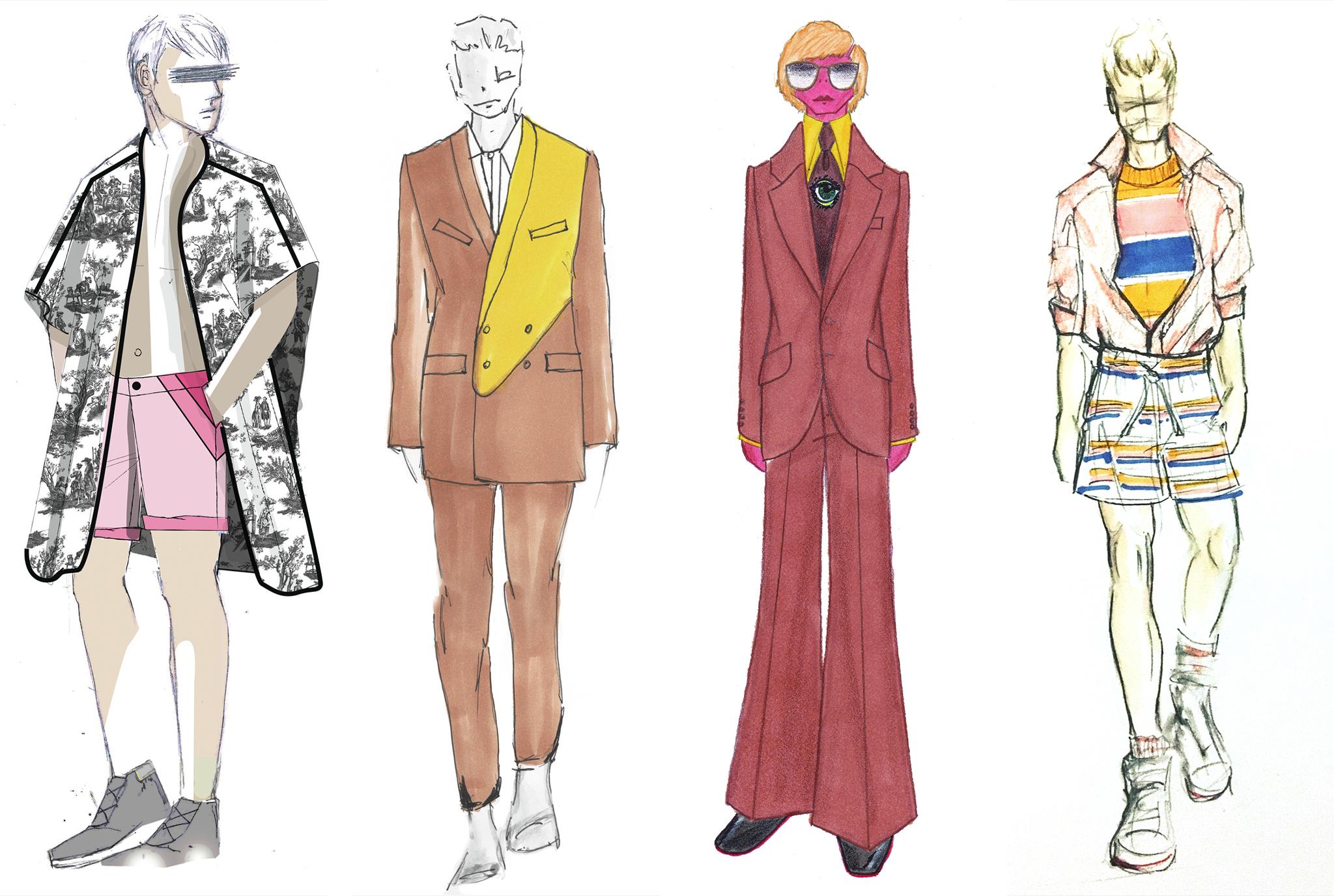 Sketches from Descendant of Thieves, Carlos Campos, David Hart and Parke & Ronan.