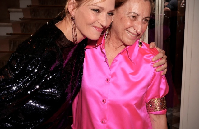 Uma Thurman and Miuccia Prada