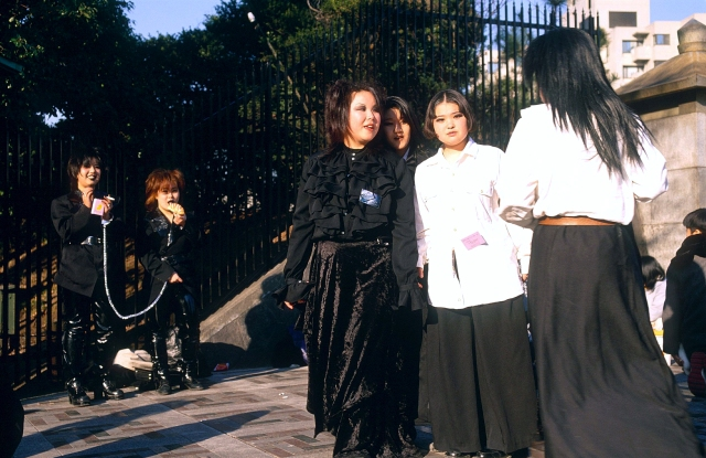 Early Japanese goths spotted in Harajuku, 1997.