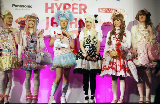 Kawaii has been a prolific style export for Japan - catching on at home and abroad, as seen here at a Japanese expo in London, 2012