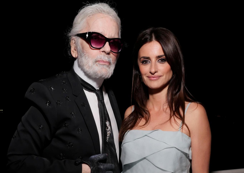 Karl Lagerfeld and Penelope Cruz