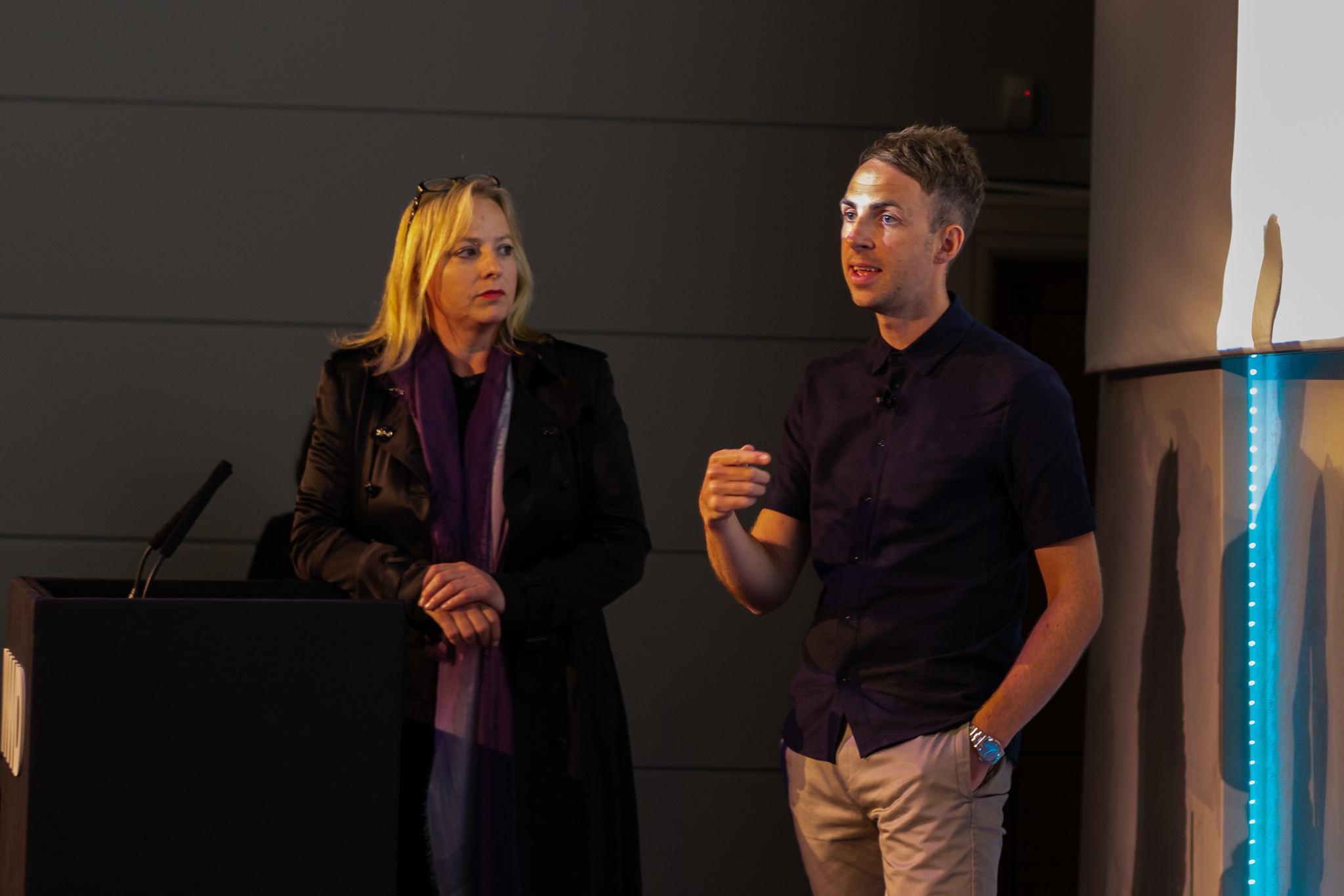 Caroline Crosswell and Darren Read