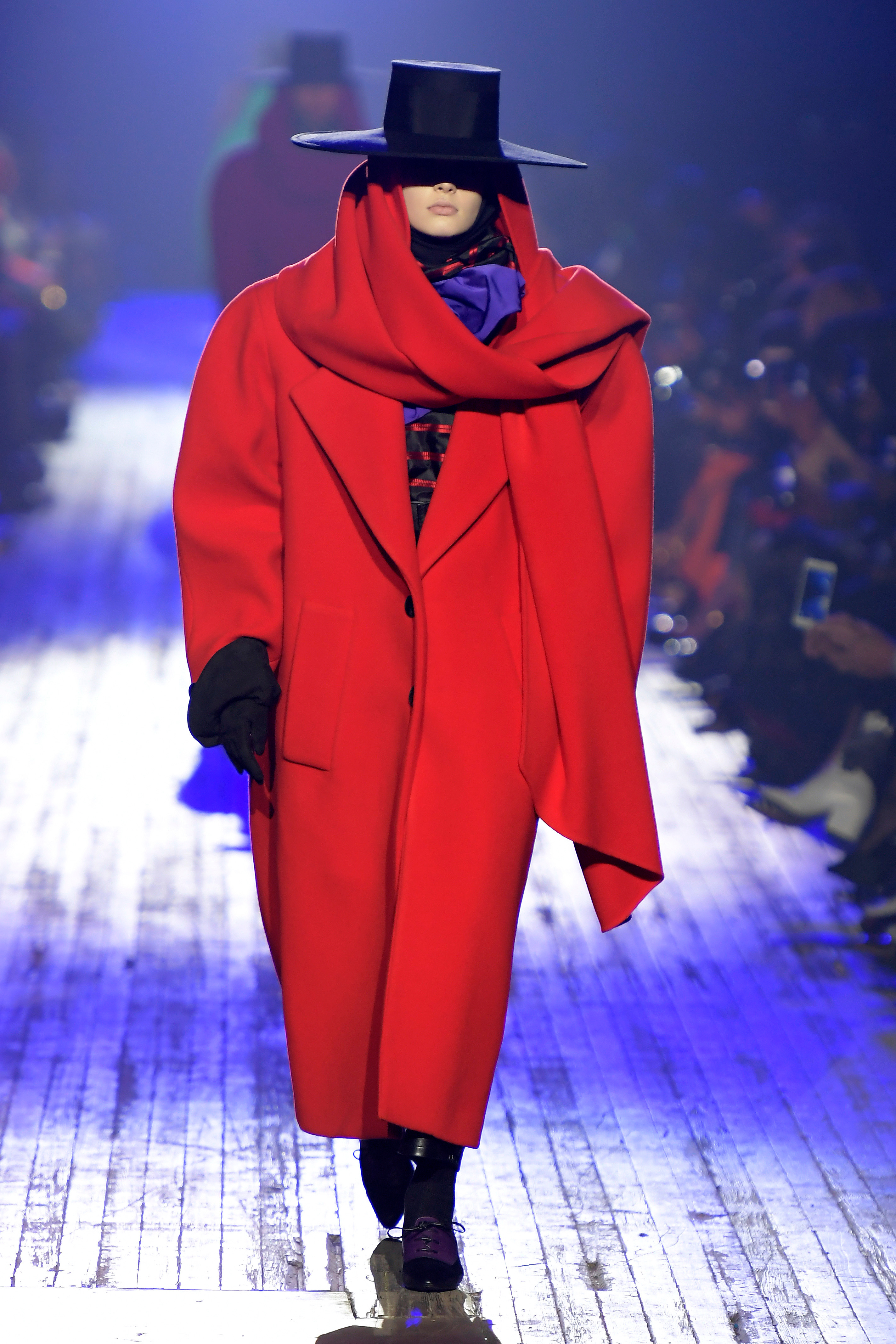Model on the catwalkMarc Jacobs show, Runway, Fall Winter 2018, New York Fashion Week, USA - 14 Feb 2018