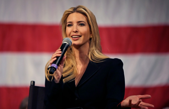 Ivanka Trump, daughter and advisor to President Donald Trump, speaks at an event on Tax Day, in Derry, N.H. to promote the recently passed tax cut packageIvanka Trump Taxes, Derry, USA - 17 Apr 2018