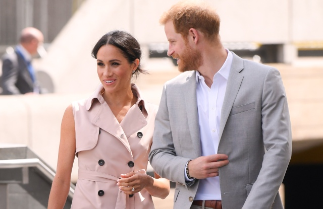 Meghan Duchess of Sussex and Prince Harry attend Nelson Mandela's Centenary Exhibition