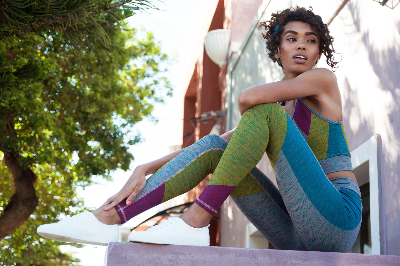 Creative athleisure wear from Sarah and Sorrentino