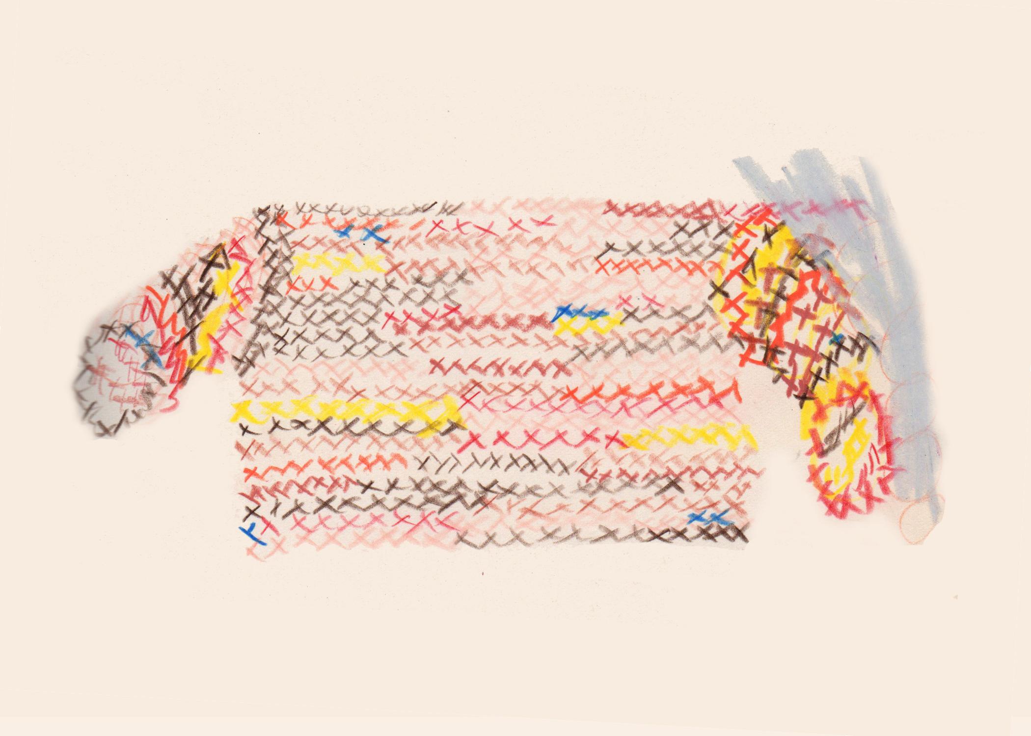 Eckhaus Latta x Whitney Sweater Illustration