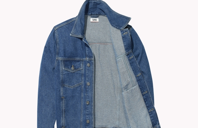 A jeans jacket with Tommy Jeans Xplore smart-chip technology.