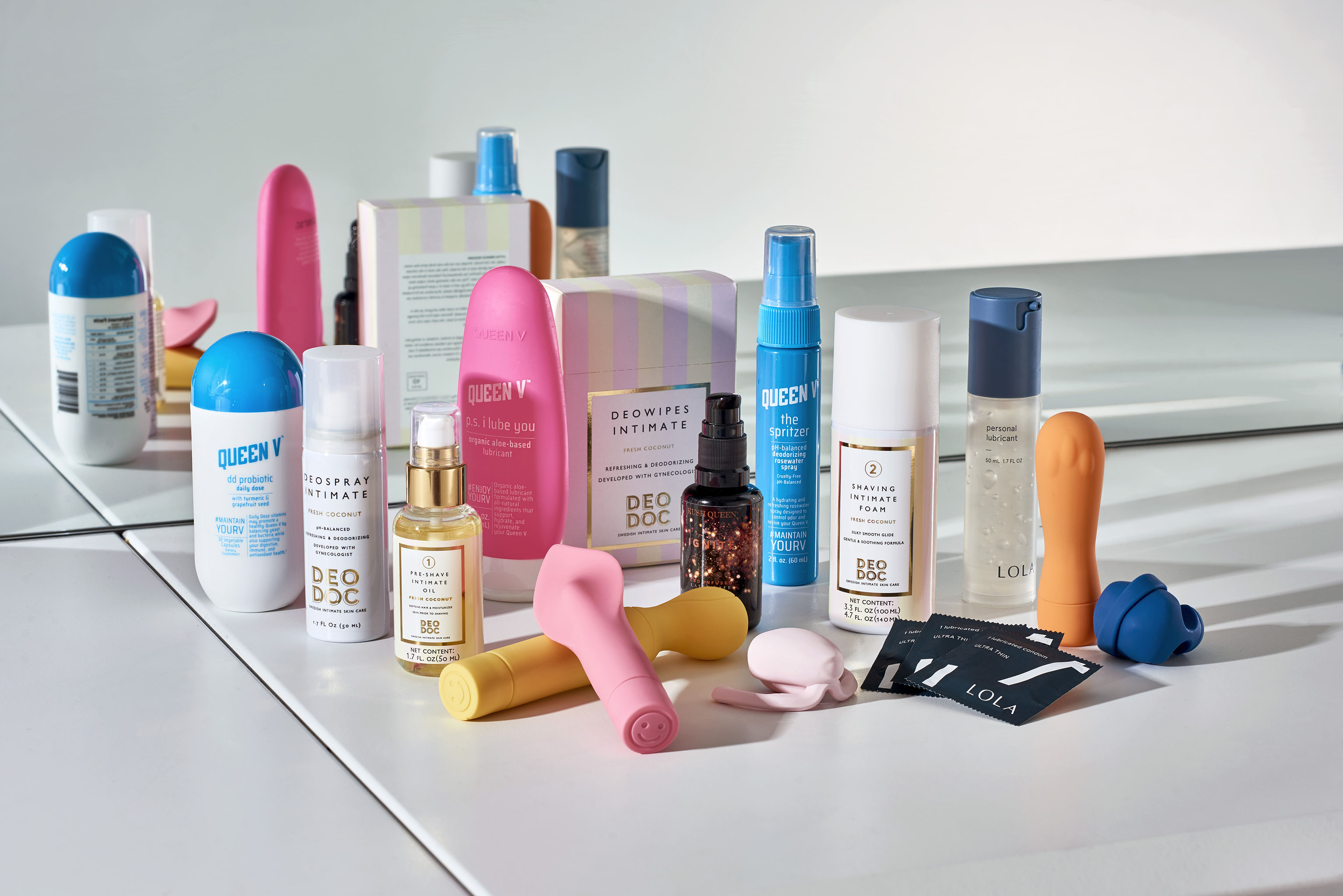 As the veil lifts on the topic of feminine care, modernized vagina-centric products such Queen V The Spritzer Rosewater Spray and vibrators from Smile Makers and Dame Products are growing in availability.