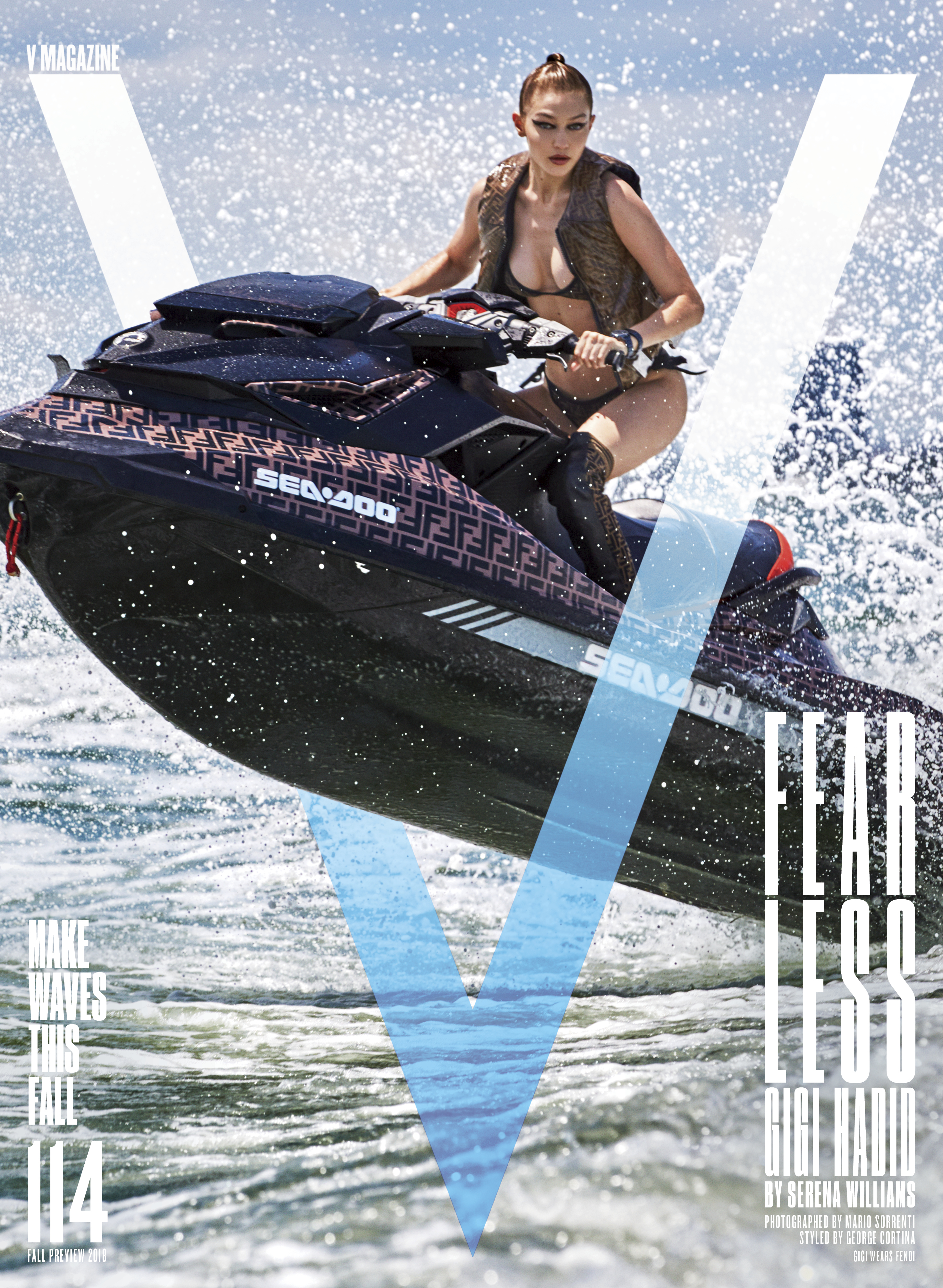 Gigi Hadid on the cover of V Magazine
