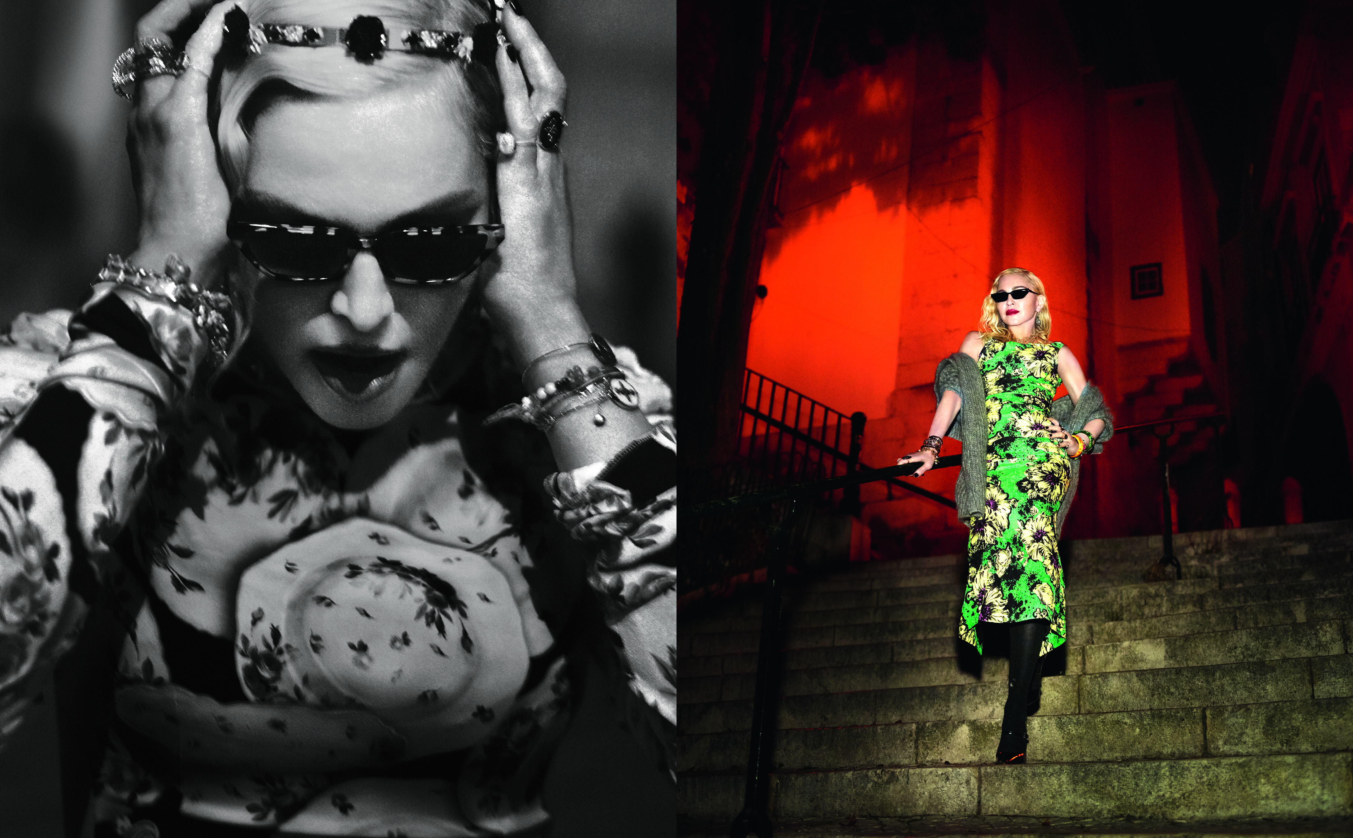 Madonna photographed for the August issue of Vogue Italia.