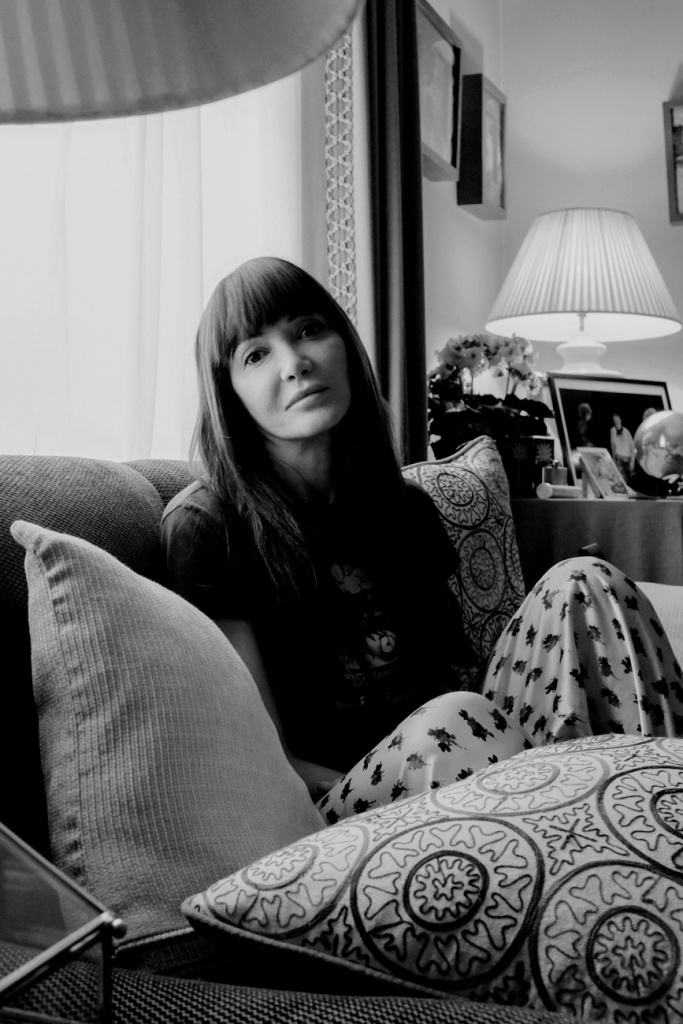 Annabelle Neilson at home in London, 2016