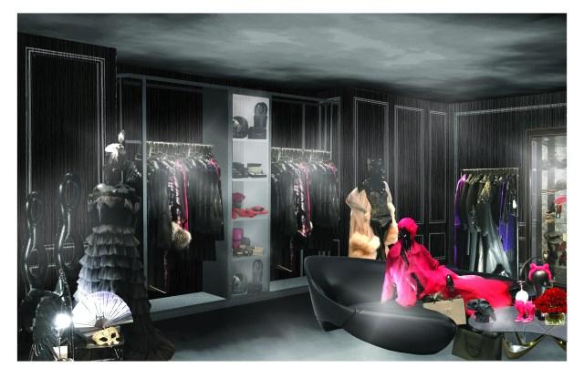 A rendering of Noir at Bergdorf Gooman.