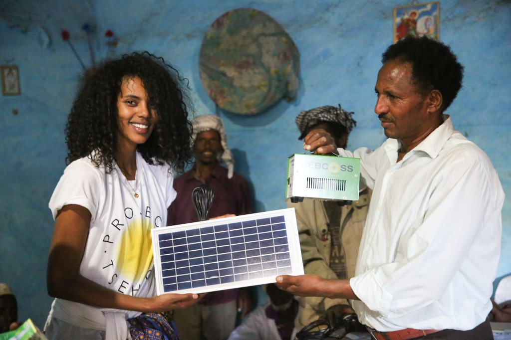 Grace Mahary during her trip in Eritrea