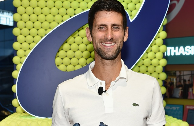 NEW YORK, NY - AUGUST 22:  A Conversation With Novak Djokovic at the ASICS 5th Ave Flagship Store on August 22, 2018 in New York City.  (Photo by Mike Coppola/Getty Images for ASICS)