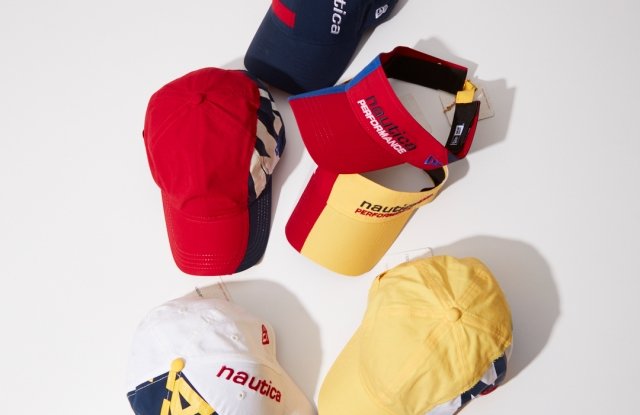 A look from the New Era x Nautica collection.