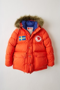 Fjällräven's Expedition technical down jacket revisited by Acne Studios.