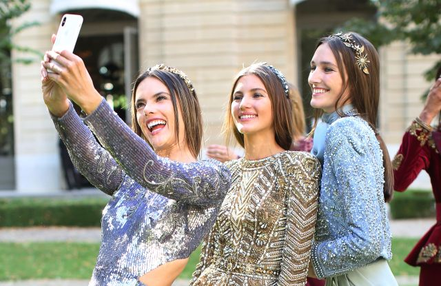 Alessandra Ambrosio and models backstageZuhair Murad show, Backstage, Fall Winter 2018, Haute Couture Fashion Week, Paris, France - 04 Jul 2018