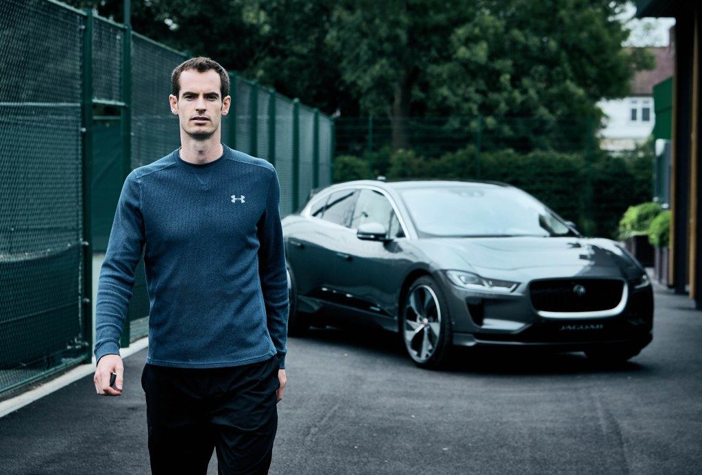 Andy Murray and the Jaguar I-Pace.