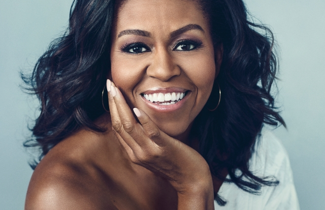 """""""Becoming"""" by Michelle Obama book cover"""